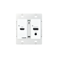 Intelix AS-1H1DP-WP-B HDMI/DisplayPort Auto-Switching Wallplate w/ HDBaseT Output