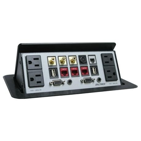 Tilt 'N Plug TNP602 Configurable Tabletop Interconnect Box