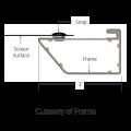 """Da-Lite 90271V 52"""" x 92"""" Cinema Contour Projection Screen"""