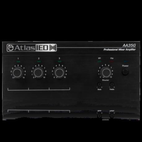 Atlas Sound AA35G 3-Input 35-Watt Mixer Amplifier with Global Power Supply