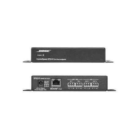 ControlSpace EP22-D 2 In x 2 Out DanteTM Endpoint (Black)