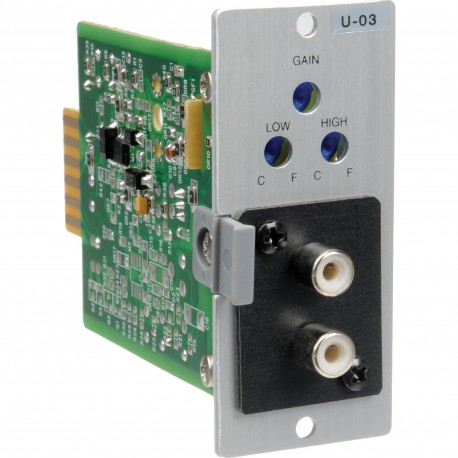 900 Series U-03R Stereo Line Input Module- Lo/Hi-Cut Filters