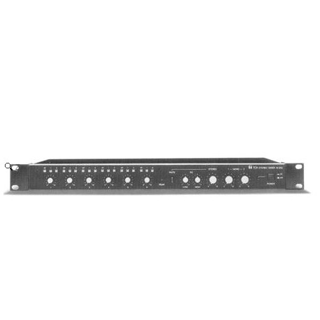 M-243 L Analog Rack-Mount Mixer- 2 Mono/4 Stereo In- 2 Mono/1 Stereo Out- 3 Bus- Black (1U)