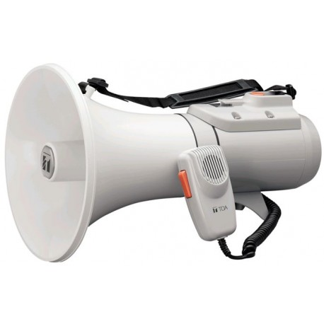 ER-2215W Shoulder Megaphone 15 W- Whistle- White/Gray