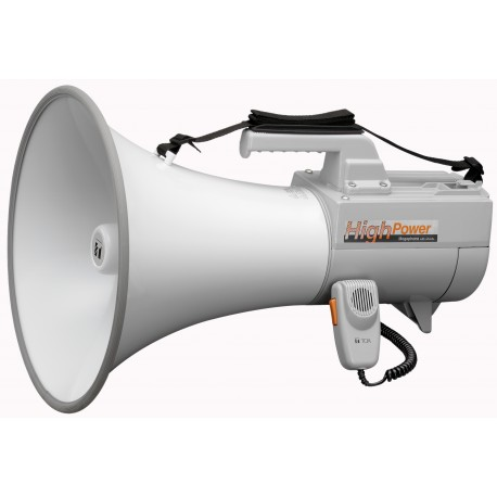 ER-2230W Shoulder Megaphone 30 W- Whistle- White/Gray