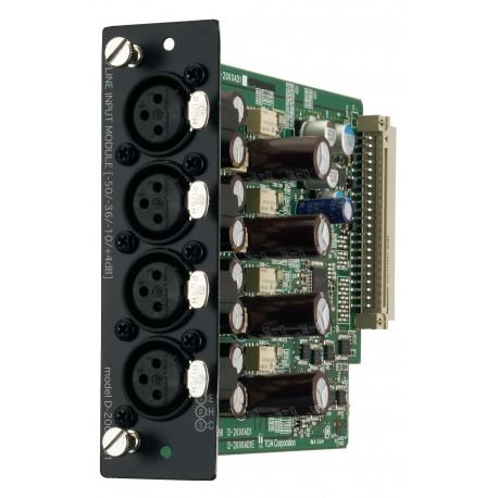 D-2000 Series D-2000AD1 D-2008 Input Module- Four Balanced Mic/Line Inputs XLR-F Connectors