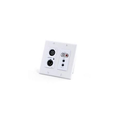 ControlSpace WP22BU-D Dante Wall Plate (2 -XLR, 2 - RCA, 1 - 3.5mm) (White)