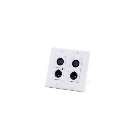 ControlSpace WP22B-D Dante Wall Plate (4 - XLR) (White)