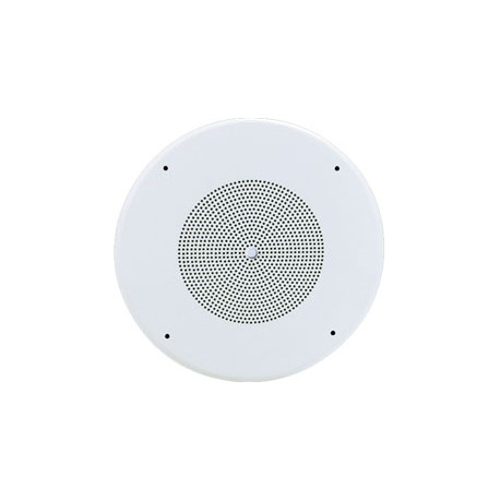 "SD72WV 8"" Cone Speaker with 4 Watt Transformer and Volume Control in White"