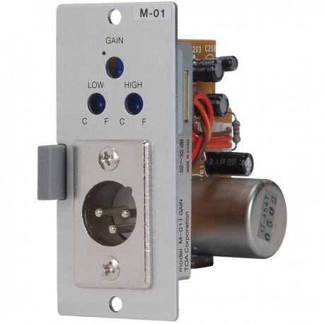 900 Series M-01M Microphone Input Module- Balanced- 200 Ohm