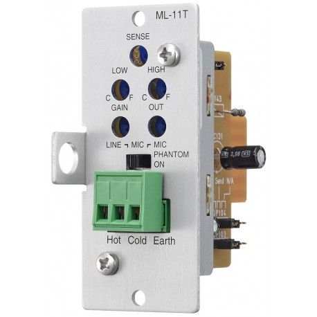 900 Series ML-11T Switchable Mic/Line Input Module- Balanced
