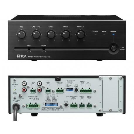 BG-2000 Series BG-2120 CU 5-Input Mixer/Amp 120W (4 Ohm/25V/70V)