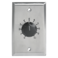 AT100 100W Single Gang Stainless Steel 70.7V Commercial Attenuator