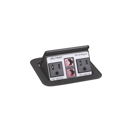 Tilt 'N Plug Jr. TNP151 Tabletop Interconnect Box (2-RJ45)