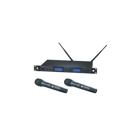 AEW-5233AC Dual Receiver Handheld Microphone System (Freq aC or aD)
