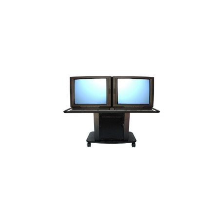 GM-200L Steel Series - Dual Monitor Cart