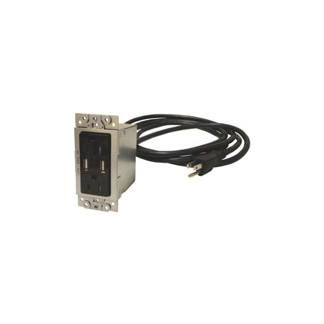 CNK-IP-200 Single Gang Dual Power, Dual USB Plate For CNK210