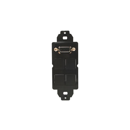 CNK-IP-216 Panel Mount Slot + 4-Port Snap in Plate