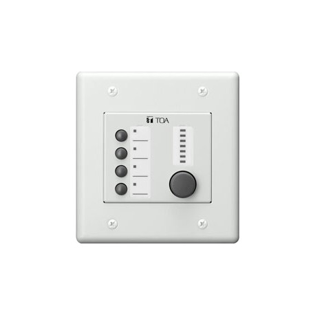 9000 Series ZM-9014 9000M2 Assignable 4-Button Remote Panel with Volume Control & LED Indicators.