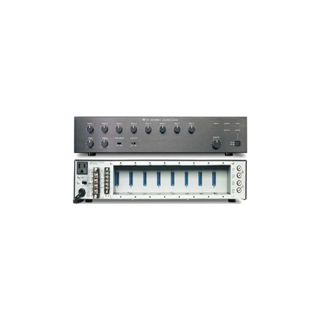 900 Series A-906MK2 UL Mixer/Amplifier- Modular- 60 W- Eight Module Ports- Black (2U)