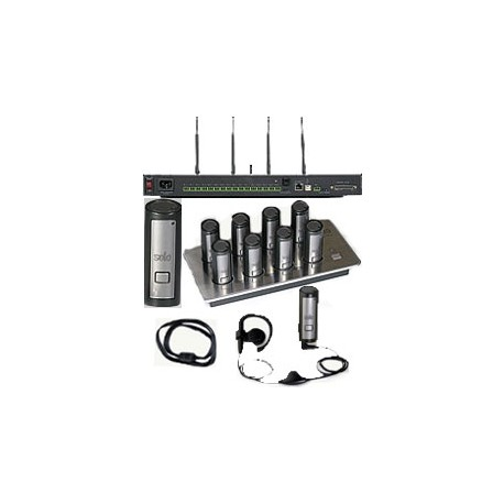 01EXESYSBLKNM Solo Executive 8 Eight Channel FFS Wireless System without Mics