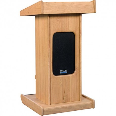Admiral Lectern with Liberty Platinum Portable Sound System Package