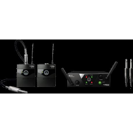 WMS40 Mini Dual Instrumental Set BD US45A/C Wireless Microphone System