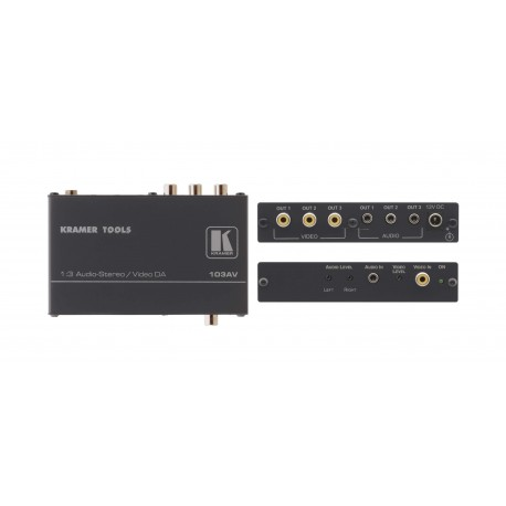 103AV 1-in 3-out Video Audio Distribution Amplifier