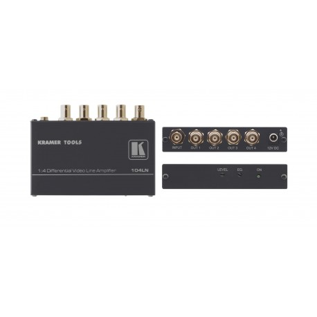 104LN 1-in 4-out Differential Video Distribution Amplifier