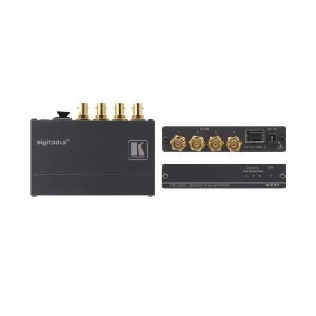 673R/T 4 Ch. 3HG HD-SDI over Single Fiber Optic Transmitter & Receiver