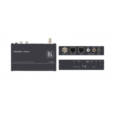 712N Composite Video & Stereo Audio Twisted Pair Receiver