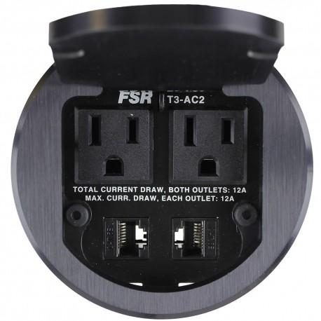 FSR T3-AC2-BLK 2 A/C and 2 Keystone Connectors